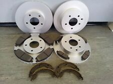 NISSAN X-TRAIL FRONT AND REAR BRAKE DISCS & PADS + HANDBRAKE SHOES 2001-2007