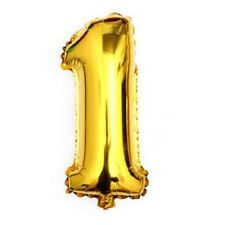 """16"""" 40"""" Silver Gold Mylar Foil BALLOON Number Letter Party Birthday Decoration"""