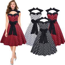 Damen Neu Ausverkauf Vintage Pinup 1950s Rockabilly Party Ball Tanztee Kleider