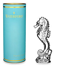 """Waterford Crystal Giftology Seahorse Paperweight Sculpture 7""""H 40000920 New"""
