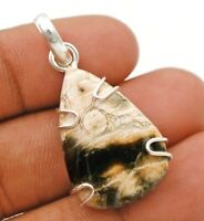 Natural Ocean Surf Jasper 925 Solid  Sterling Silver Pendant Jewelry ED30-3