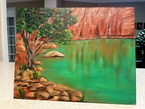 Original Western Australian landscape, Framed 36cmx28cm Millstream