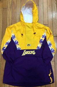 Mitchell & Ness Half Zip Anorak NBA Los Angeles Lakers Light Jacket Windbreaker