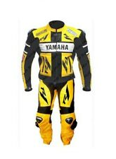 *YAMAHA-R1-Motorcycle Racing Leather Suit-MotoGp-CE Approved Protectors*