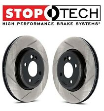 StopTech Set of Front Left Right Slotted Brake Discs For Subaru Impreza WRX STi