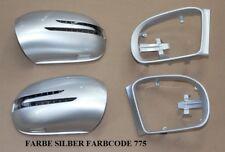 Spiegelkappen + LED Blinker FÜR Mercedes W164 ML Silber 775 Baujahr 2005-2008