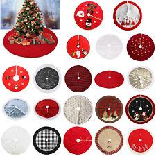 Christmas Tree Print Skirt Mat Cover Stand Apron Rug Xmas Festive Home  #3YE
