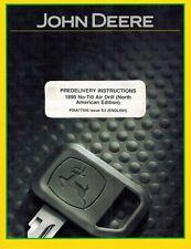 John Deere 1890 No Till Air Drill Predelivery Instructions Manual Jd