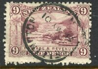 NEW ZEALAND....  1898  9d terraces, perf 11   used