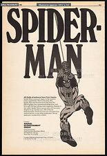 SPIDER-MAN / MARVEL ENTERTAINMENT__Original 1980 Trade print AD / comic poster