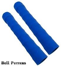 Two (2) Tacki-mac Hockey Stick Grips-Command Rib Ribbed Blue Wrap Grip-with Tape