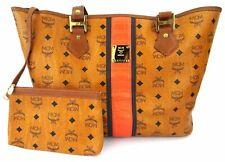 MCM Damen Tasche Handtasche Shopper braun cognac schwarz + Pochette