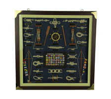 Zeckos Nautical Knotboard With Signal Flags in Classic Wood Frame