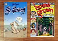 Comic Book: Mr. Natural #3 + Home Grown Funnies #1: R Crumb, Kitchen Sink lot