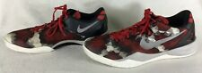 Nike Men's Kobe 8 VIII System Milk Snake Shoes Red Black Gray 555035-601 Size 14