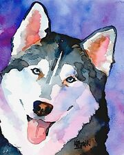 Husky Dog 11x14 signed art PRINT RJK from painting
