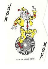 Rare Non Standard Vintage Hong Kong Uni-Cycle Jovial Joker Playing Card