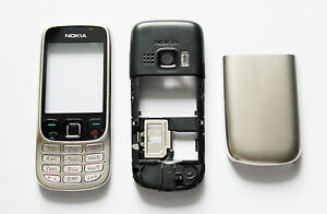 Silver Housing Cover Facia Fascia Faceplate case for nokia 6303 silver -95632157