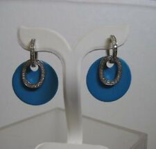 Sterling Silver & Resin Earring Turquoise Color