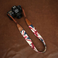 Union Jack (British Flag) Pattern Denim Cam-in DSLR Camera Strap CAM7157 | UK