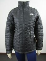 Womens TNF The North Face Thermoball FZ ECO Puffer Insulated Warm Jacket Black