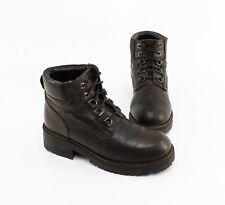 Boots Montega Stiefeletten Blockabsatz Echtleder braun Gr. 38