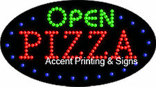Open Pizza Flashing & Animated Real Led Sign
