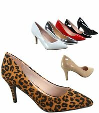 2c777a50ba49 Women s Sexy Slip On Classic Pointed Toe Patent Pump Heels Shoes Size 5 -  10 NEW