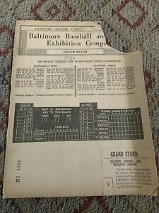 1926 International League Championship Baltimore Orioles Newark Grand Stand Coup