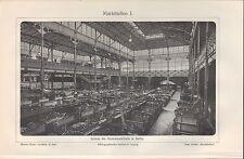Lithografie 1906: Markthallen I/II. Stadt Berlin Architektur Zentralmarkthalle
