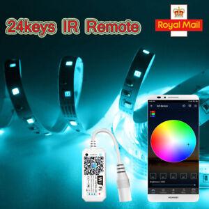 24keys IR Remote Controller APP Control For 5050 DC5-28V Box RGB LED Strip Light