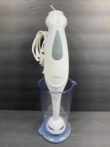 Oster Immersion Hand Blender w/ Variable Speeds Measuring Cup Lid Included WORKS