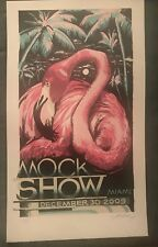 """Aj Masthay """"Mock Show"""" posters from 2009 Miami signed limited rare"""