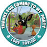 30x Personalised  Bing Bunny 50mm (2 inch) Stickers Party Thank You Seals