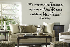 Disney we keep moving Forward vinyl wall lettering quote wall decal inspiration