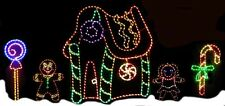 Christmas North Pole Gingerbread Village LED Lighted Decoration Steel Wireframe