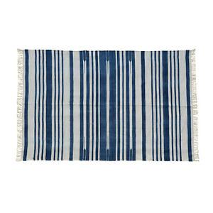 Handwoven Flatweave Jaipur RugHauz Reversible Dhurrie Area Rug Kilim Natural Dye