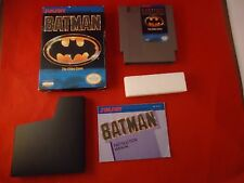 Batman: The Video Game (Nintendo Entertainment System, 1990) COMPLETE w/ Box #Q1