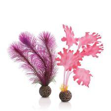 Oase Biorb fácil planta 2 Pack Rosa Kelp pequeño 20cm Pez Tanque Acuario Decoración