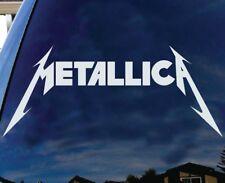 "Metallica American Hard rock Metal band Logo Album cover car SUV 13"" White"