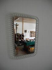 Wandspiegel mit Eisendraht Gitter 50er 60er Jahre