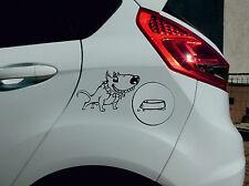 Autoaufkleber KFZ Aufkleber Autotattoo Tattoo Tuning Tankdeckel Bullterreir Hund