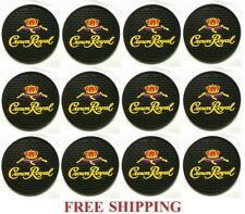 CROWN ROYAL BLACK CANADIAN WHISKY  SET OF 12  BAR TOP SPILL MAT COASTERS NEW
