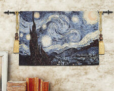 Van Gogh Starry Night Tapestry Wall hanging woven nice thick cotton