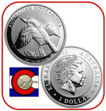 2011 Australia Kookaburra 1 oz. Silver Coin - BU direct from Perth Mint roll