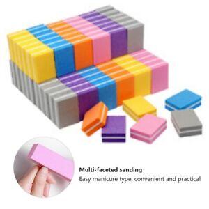 Mini Double-sided Nail File Blocks Colorful Sponge Nail Polish Sanding Buffer