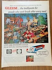1957 Gleem Toothpaste Ad  Family on Camping Vacation Trip