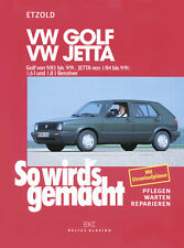 VW Golf 2 & Jetta 1 ETZOLD So wirds gemacht 44 Reparaturanleitung Wartung NEU