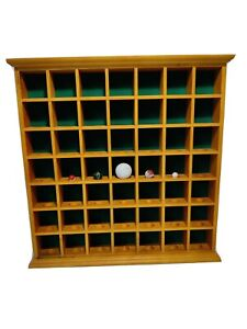 Golf Ball Collection Marble Collection Display Case Freestanding Wall Hang 49