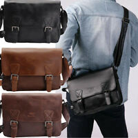 Men's Vintage  Leather shoulder Messenger Bag Briefcase Laptop Bags